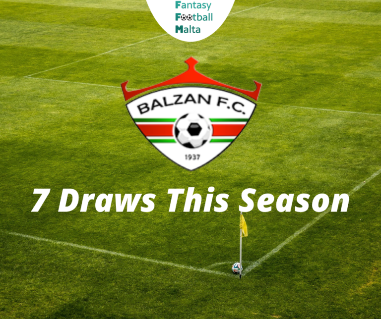 Matchday 14 - FFM Statistics: Half of the league matches that involved Balzan FC this season finished in draws.
